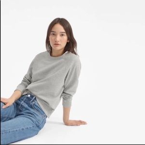 Everlane The Slim Classic French Terry Crew Grey M
